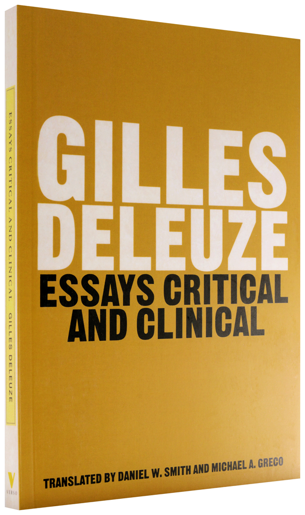 essays critical and clinical deleuze